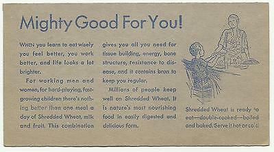 Vintage Nabisco Shredded Wheat Mighty Good For You Card Maybe Netherlands