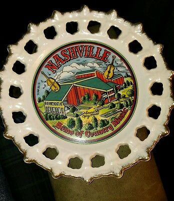 Nashville, Home of Country Music Decorative Collector Plate, 8 inch.