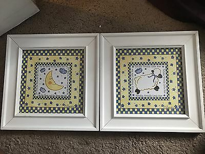 2 lullaby baby wall decor frame