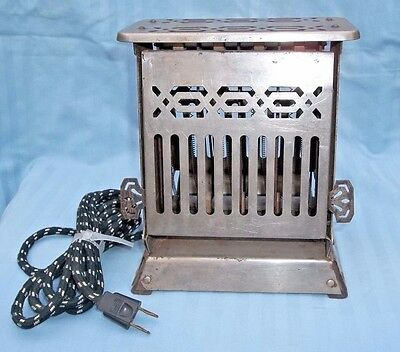 Antique vintage TOASTER: HOTPOINT EDISON GENERAL ELECTRIC model 156T25 RE-WIRED