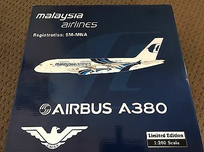 Malaysia Airlines - Airbus A380 - Diecast Registration 9M-MNA - Scale 1:200