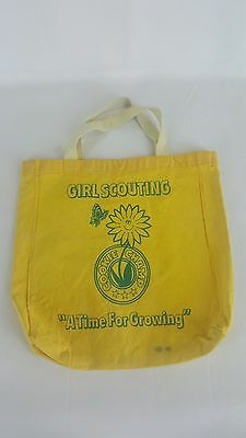 Vintage yellow Girl Scout Cookie Champ total bag 1980s?