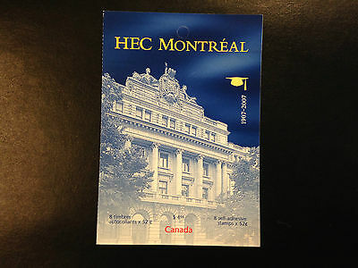 Canada BK348 #2209, HEC Montreal Booklet of Stamps 2007