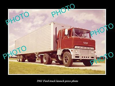 Old Large Historic Photo Of 1961 Ford Truck Model Launch Press Photo