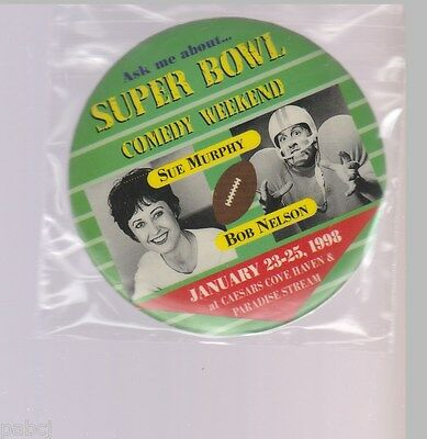 Superbowl Comedy Weekend - Pinback Button Caesars Cove Haven 1998  Bagged 3""