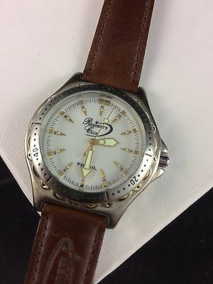 Mens Fossil Watch - Presidents Club - Brown Leather - Excellent