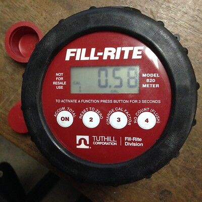 Tuthill Fill Rite 820 Digital Flow Meter
