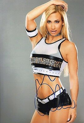 Carmella Signed 12X8 Photo WWE WWF UFC Genuine Signature AFTAL COA (7157)