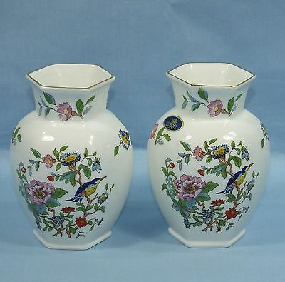 Aynsley Pembroke Bone China Pair Of Baluster Vases