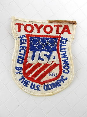 Vintage 1980 Toyota Selected By The US Olympic Committee Patch #3126