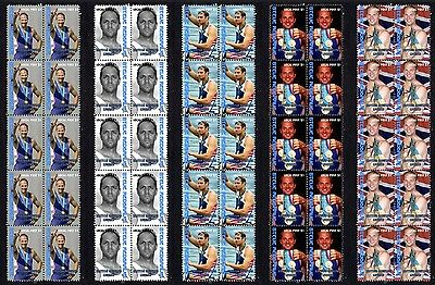 Steve Redgrave British Rowing Icon Set Of 5 Mint Stamps