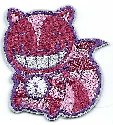 Cheshire Cat Embroidered Patch Iron-on Alice In Wonderland Art Good Luck Magic