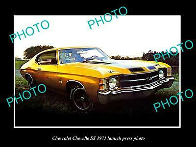 Old Large Historic Photo Of 1971 Chevrolet Chevelle Ss Launch Press Photo