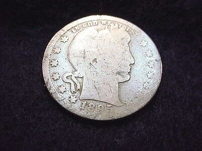1895-O Barber Quarter Nice Key Date Coin---Free Shipping!!  #100