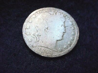 1893 Barber Quarter Nice Key Date Coin---Free Shipping!!  #40