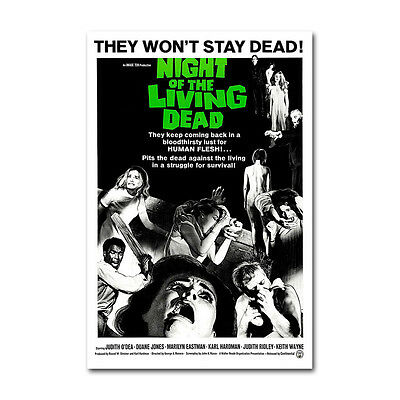 Night of The Living Dead Classic Horror Movie Silk Poster 12x18 24x36 inch 002