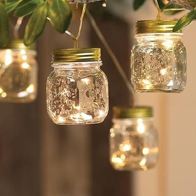 NEW RAZ  7.5' LED Mason Jar String Lights Spring Outdoor Decoration G3625558