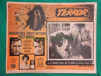 CAPE FEAR Horror GREGORY PECK ROBERT MITCHUM SPANISH MEXICAN LOBBY CARD