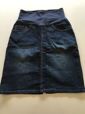 Maternity Denim Skirt Sz 8 Ninth Moon
