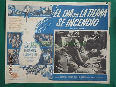 THE DAY THE EARTH CAUGHT FIRE Sci-Fi JANET MUNRO SPANISH MEXICAN LOBBY CARD 3