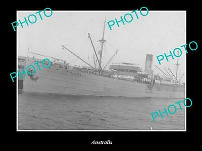 OLD LARGE HISTORIC MERCHANT SHIP PHOTO OF THE STEAMSHIP SS AUSTRALIS c1920s