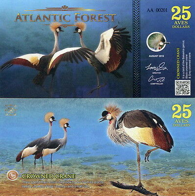 ATLANTIC FOREST - 25 aves dollars 2016 FDS UNC