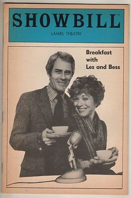 """Holland Taylor & Keith Charles  """"Breakfast With Les And Bess""""   Playbill  1983"""