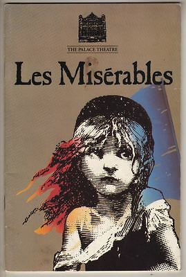 """""""Les Miserables""""  London Playbill  1986  Dave Willetts"""