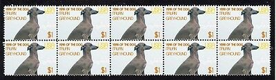 Italian Greyhound Year Of The Dog Strip Of 10 Mint Stamps 4