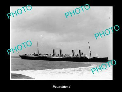 OLD LARGE HISTORIC MERCHANT SHIP PHOTO OF THE STEAMSHIP SS DEUTSCHLAND c1920s