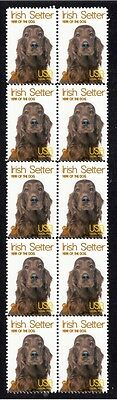 Irish Setter Year Of The Dog Strip Of 10 Mint Stamps 2