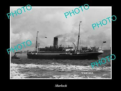 OLD LARGE HISTORIC MERCHANT SHIP PHOTO OF THE STEAMSHIP SS MARLOCH c1920s
