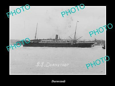 OLD LARGE HISTORIC MERCHANT SHIP PHOTO OF THE STEAMSHIP SS DARMSTADT c1920s