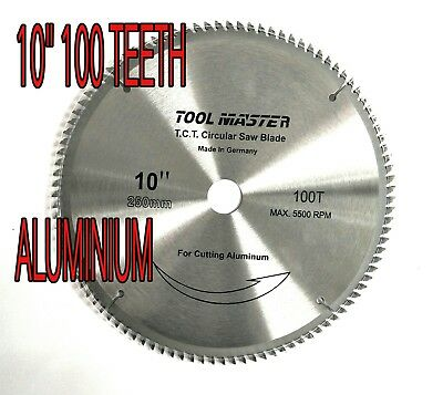 "5pc X (10"") 100T  CIRCULAR SAW drop saw BLADE FOR ALUMINIUM WOOD CUTTING"