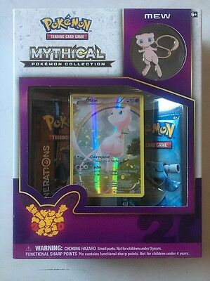 New And Sealed Pokemon 20th Anniversary Mythical Collection Mew Box Mint