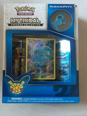 New And Sealed Pokemon 20th Anniversary Mythical Manaphy Collection Box Mint