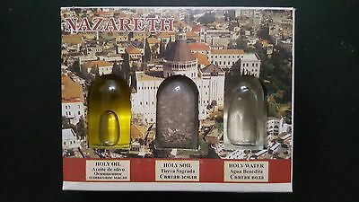 Nazareth-Holy-Water-Holy-Oil-Holy-Soil-From-Holy-Land-autentic! from nazaerth!
