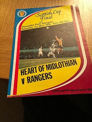 HEARTS v RANGERS 1.5.1976 SCOTTISH CUP FINAL