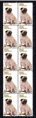 Pug Year Of The Dog Strip Of 10 Mint Stamps 4
