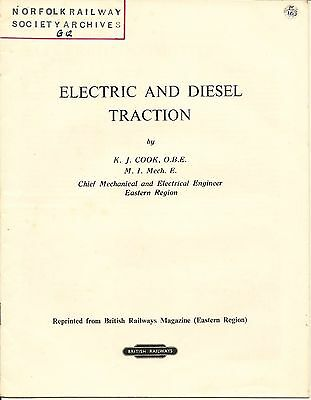 Electric and Diesel Traction by K J Cook, British Railways official booklet 1957