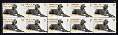 Weimaraner Year Of The Dog Strip Of 10 Mint Stamps 4