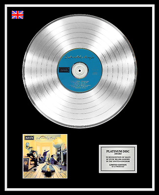 OASIS CD Platinum Disc Record LP DEFINITELY MAYBE