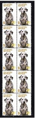 Dalmatian Year Of The Dog Strip Of 10 Mint Stamps 2