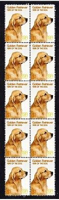 Golden Retriever Year Of The Dog Strip Of 10 Mint Stamps 5
