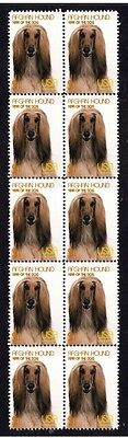 Afghan Hound Year Of The Dog Strip Of 10 Mint Stamps 3