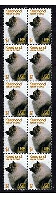 Keeshond Year Of The Dog Strip Of 10 Mint Stamps 2