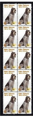 Italian Spinone Year Of The Dog Strip Of 10 Mint Stamps 1