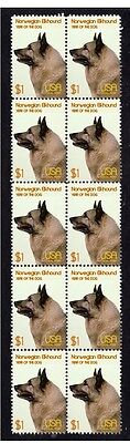 Norwegian Elkhound Year Of The Dog Strip Of 10 Mint Stamps 2