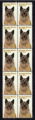 Norwegian Elkhound Year Of The Dog Strip Of 10 Mint Stamps 1