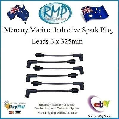 A Brand New x 6 Universal Spark Plug Leads Suits Many Mercury Mariner 325mm